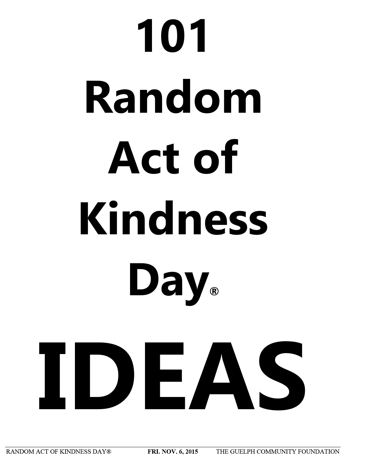 """an act of kindness Practicing random kindness while expecting nothing in return except the good  feelings that these acts provide is life-giving below are 100 ways to """"pay it."""