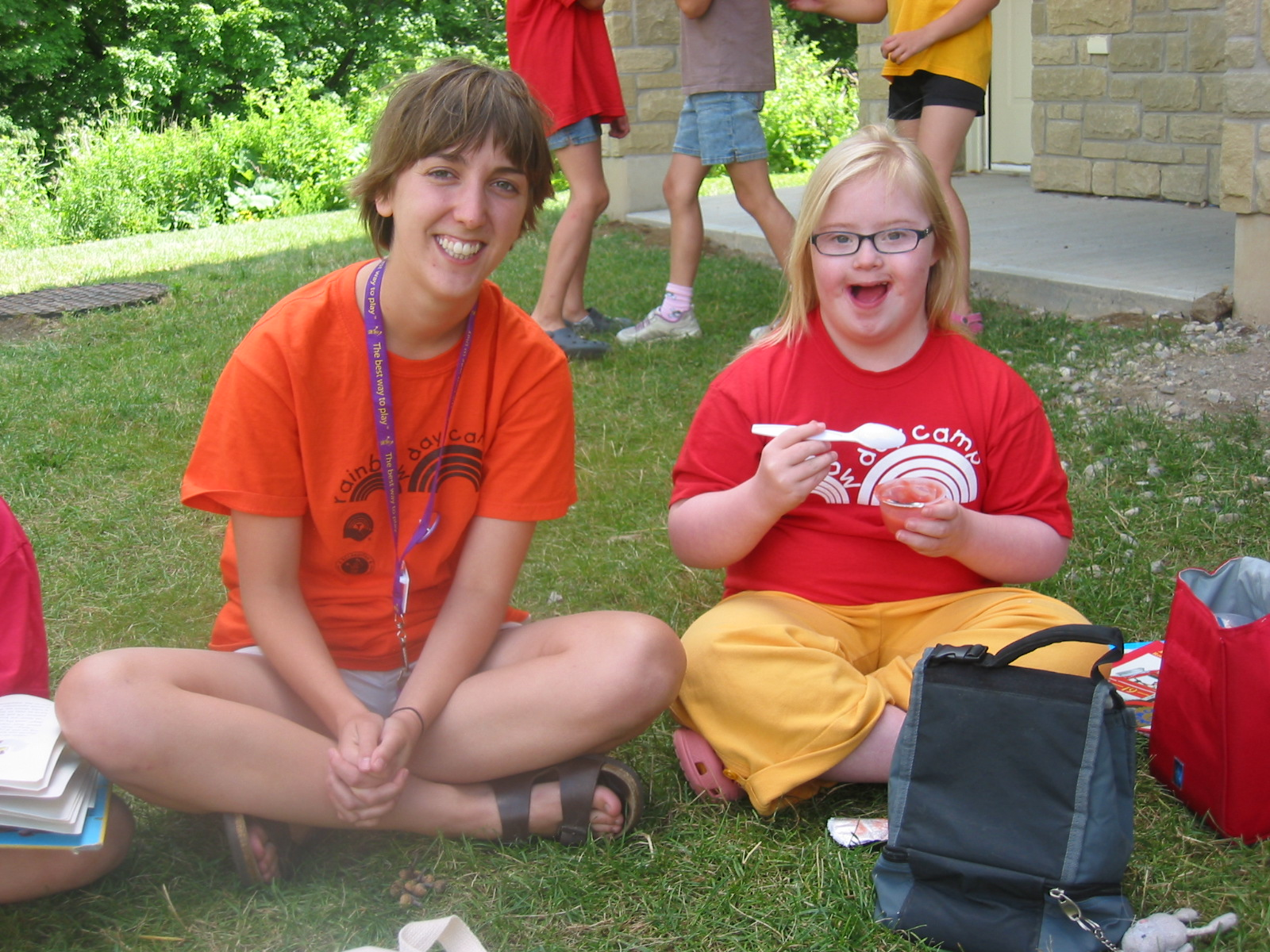 Camper and Leader at Rainbow Day Camp